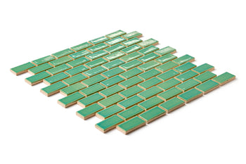 "1""x2"" Staggered Pattern - 1065 Mint Julep"