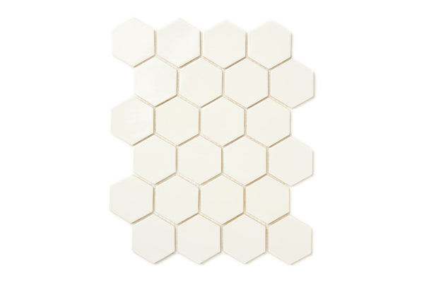 Small Hexagon - Deco White