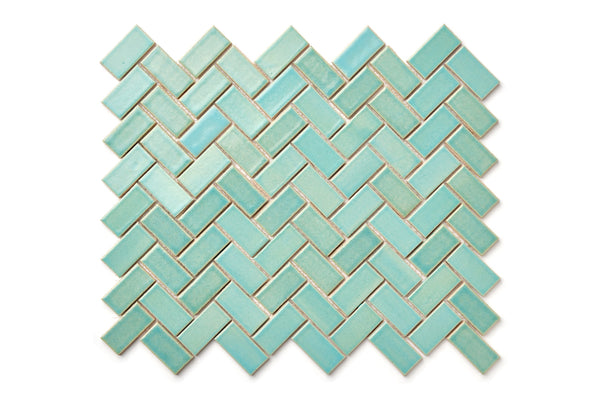 Herringbone pattern - Blue Bell