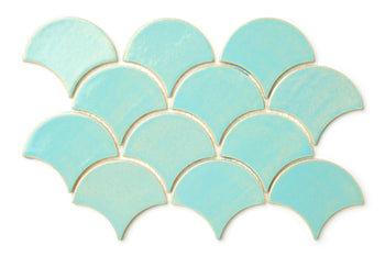 Medium Moroccan Fish Scales - 12W Blue Bell