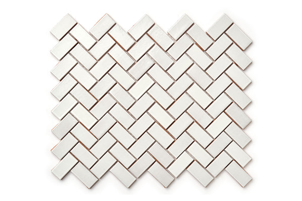 Herringbone pattern - White