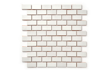 "1""x2"" Staggered Pattern - 130 White"