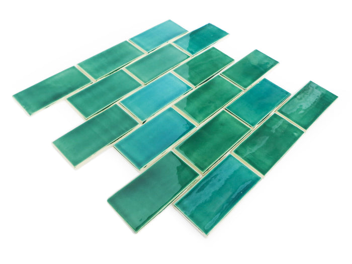 2x4 Subway Tile Sea Mist