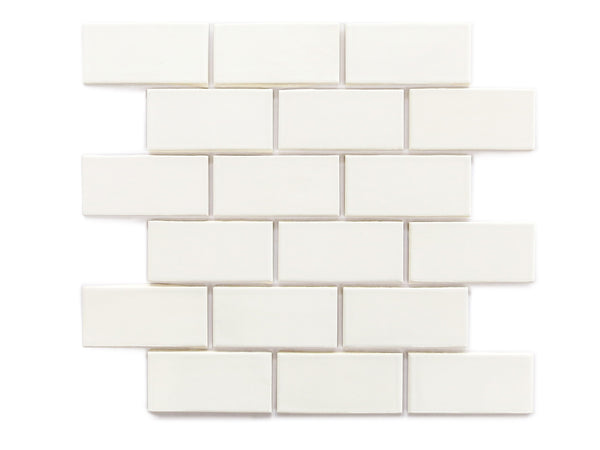 2x4 Subway Tile Deco White