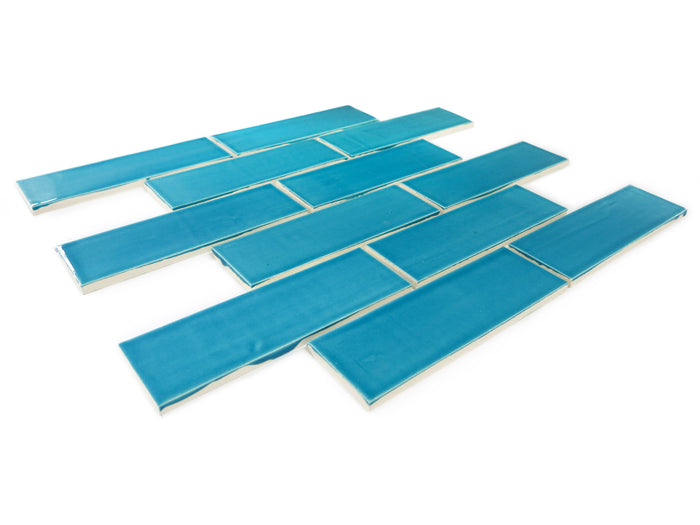 2x6 Subway Tile Caribbean Blue