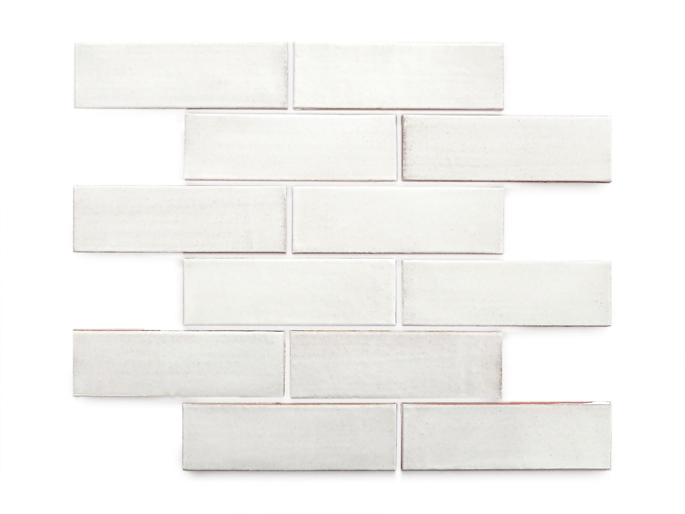 2x6 White Subway Tile White Ceramic Tile Backsplash Mercury