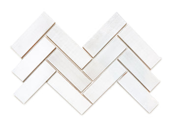 "2""x6"" Herringbone Pattern - 130 White"