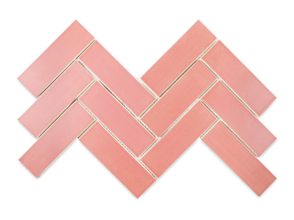 "2""x6"" Herringbone 309E Grapefruit"