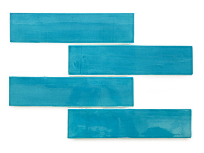 "3""x12"" Subway Tile - 1015E Caribbean Blue"