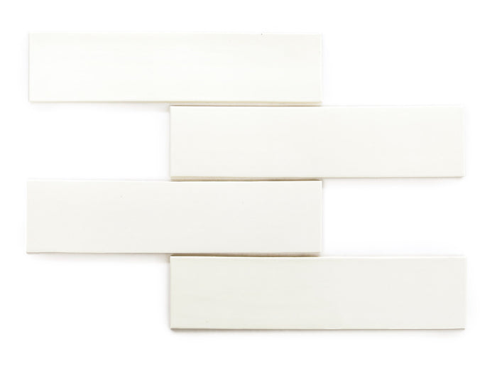"3""x12"" Subway Tile - 11 Deco White"