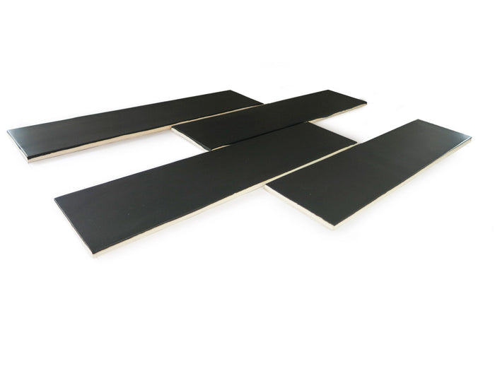 3x12 Subway Tile Satin Black