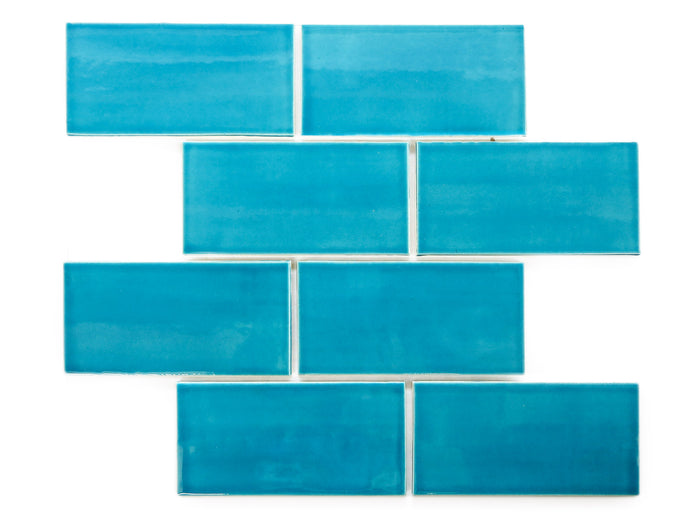 "3""x6"" Subway Tile - 1015E Caribbean Blue"