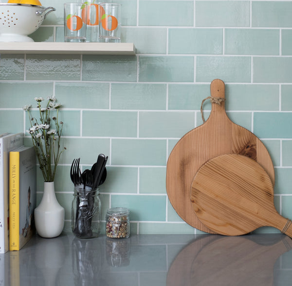 3 Quot X6 Quot Light Teal Subway Tile Hand Crafted Ceramic Tile