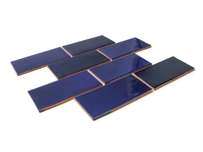 "3""x6"" Subway Tile - 21R Cobalt"