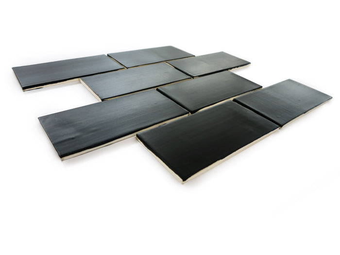 "3""x6"" Subway Tile - 366 Satin Black"