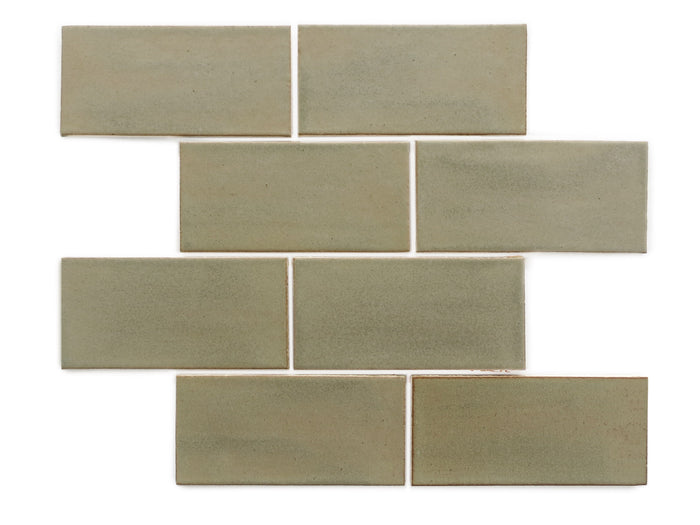 "3""x6"" Subway Tile - 406W Aged Moss"