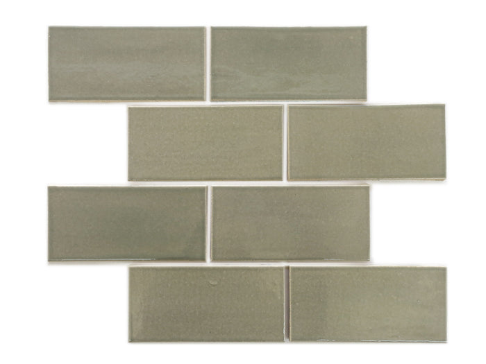 "3""x6"" Subway Tile - 815W Light Grey"