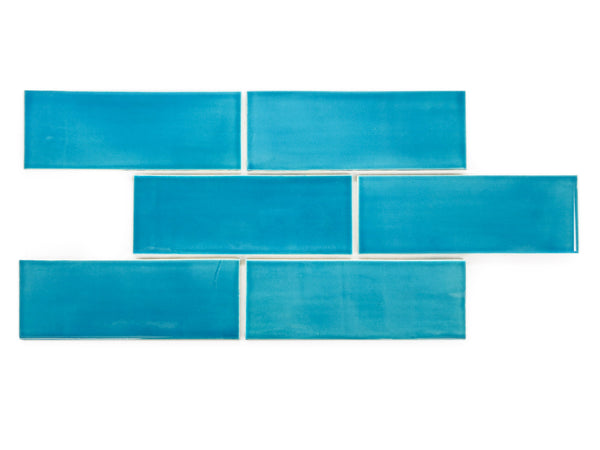 3x8 Subway Tile Caribbean Blue