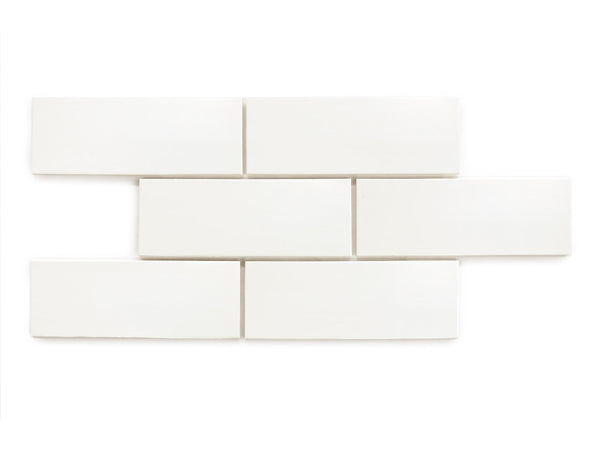 3x8 Subway Tile Deco White