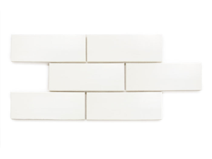 "3""x8"" Subway Tile - 11 Deco White"