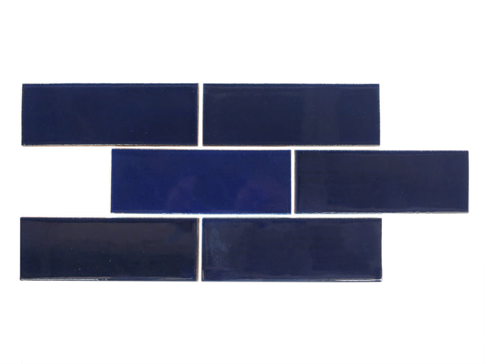 "3""x8"" Subway Tile - 21R Cobalt"