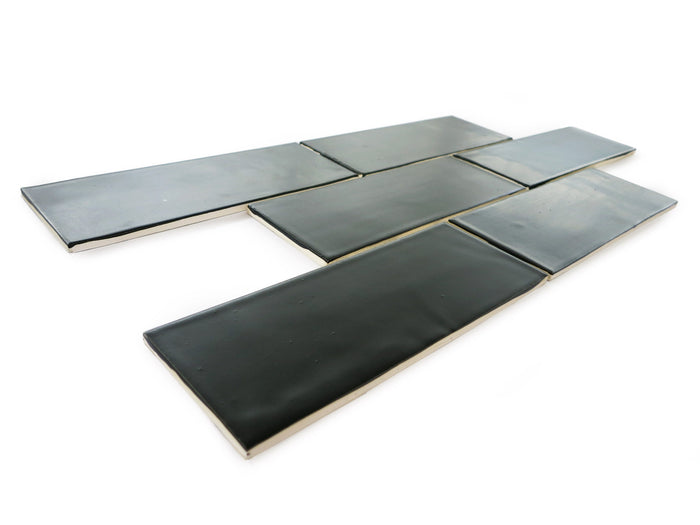 "3""x8"" Subway Tile - 366 Satin Black"