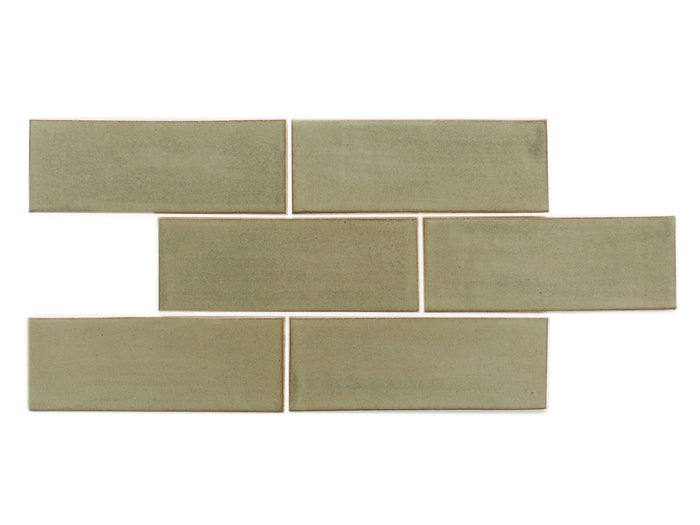 "3""x8"" Subway Tile - 406W Aged Moss"
