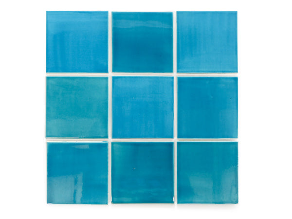 4x4 Subway Tile Caribbean Blue