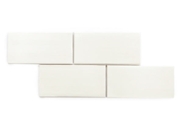 4x8 Subway Tile Deco White