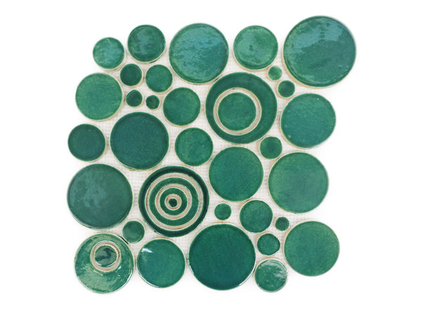 Bubbles - Sea Mist Green