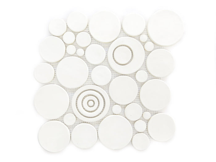 Bubbles Sheet - 11 Deco White