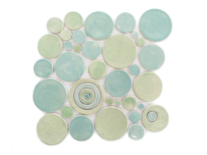 Bubbles Sheet - 216 Sea Glass + 214 Coastal Breeze