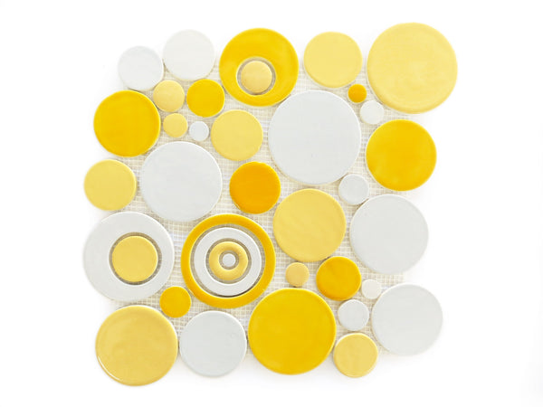 Bubbles- Yellow-Grey