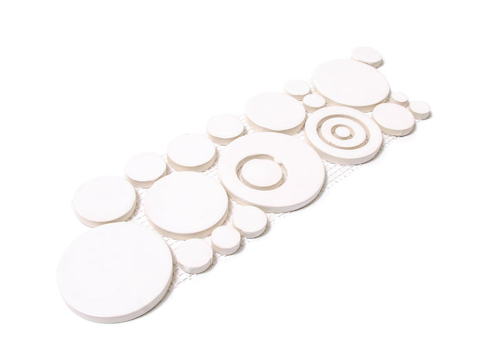 Bubbles Trim - 11 Deco White