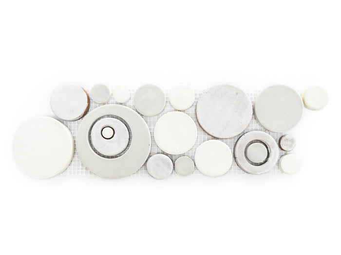 Bubbles Trim - 130 White, 11 Deco White + 77E Grey