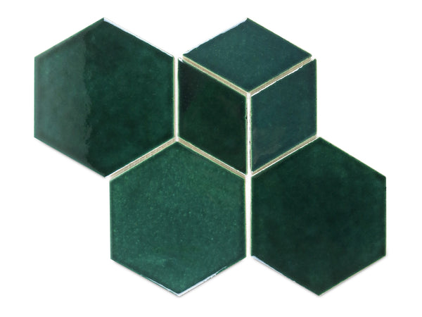 Hexagon & Diamond Pattern - 1036W Bluegrass