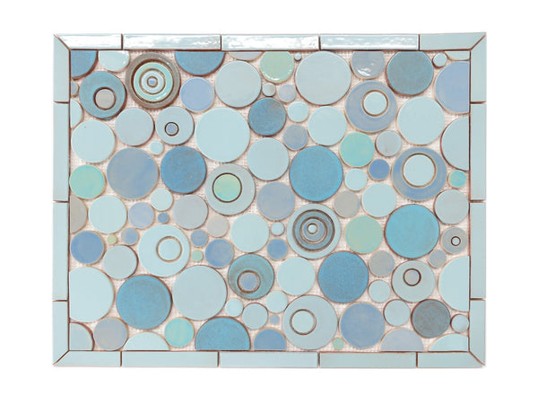blue mosaic backsplash