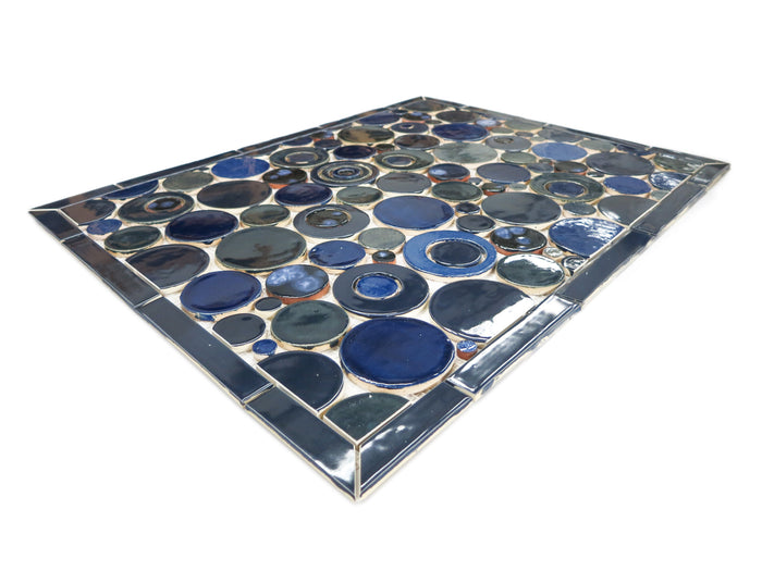 "20""x26"" Stove Splash - Bubbles - Vivid Blues"