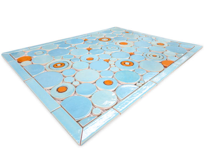 "20""x26"" Stove Splash - Bubbles - Blue & Orange"