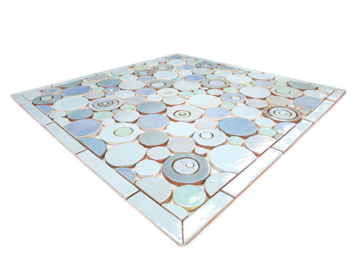 "26""x26"" Stove Splash - Bubbles - Light Blues"