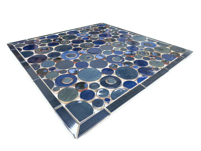 "26""x26"" Stove Splash - Bubbles - Vivid Blues"