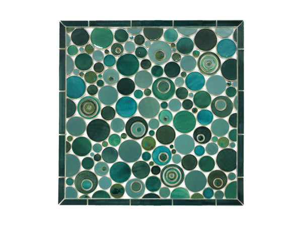 stove splash tile teal bubbles