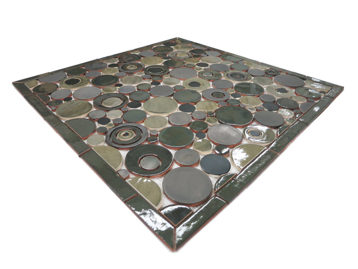 "26""x26"" Stove Splash - Bubbles - Dark Greys"