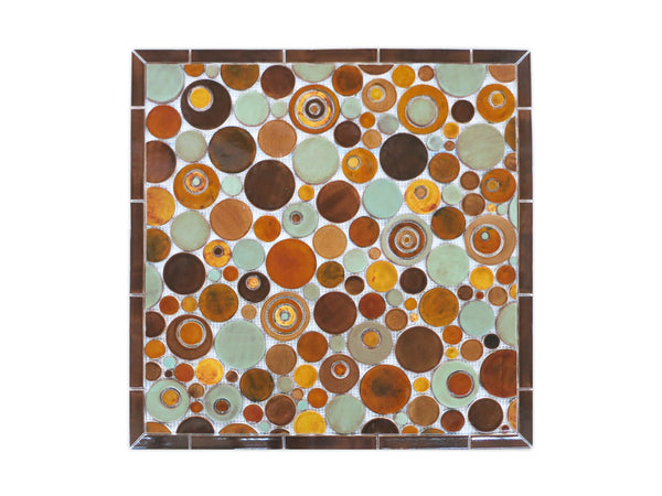 earth tone mosaic backsplash