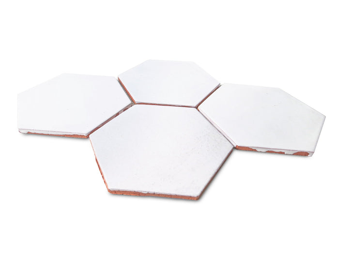 Large Hexagon - 130 White