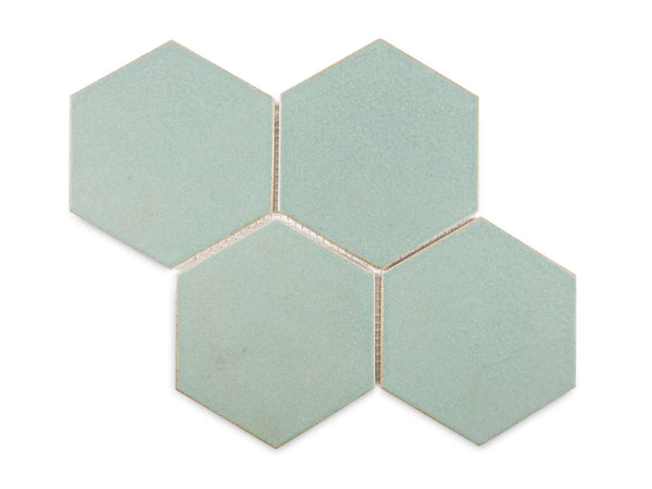 turquoise hexagon tiles