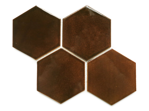 Large Hexagon - 1673 Espresso