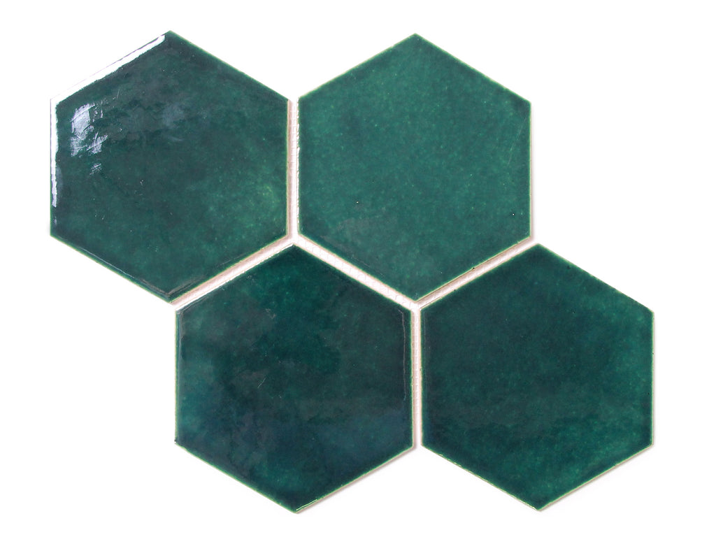 Large Teal Hexagon Tile Teal Hexagon Ceramic Tile