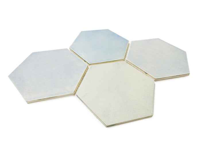 Large Hexagon - 22E Blue Opal