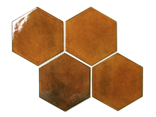 Large Hexagon - Amber